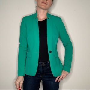 NWOT Vince Camuto Single Button Turquoise Blazer 2